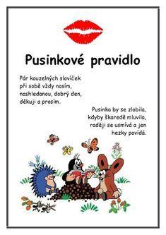 Krtkova Pravidla :: Msbystrice Preschool Food, Teacher Hacks, Baby Time, Kids Songs, Cute Quotes, Future Baby, Montessori, Kindergarten, Classroom