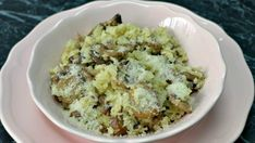 Creamy Mushroom and Cauliflower Risotto