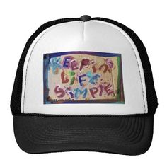 keepin' life simple trucker hats