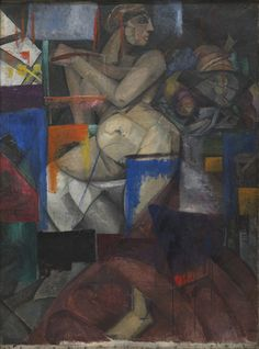 Cubist Nude  Alexandra Exter (Russian, 1882–1949)    c. 1912. Oil on canvas,