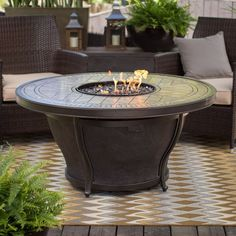 Agio Balmoral 48 in. Round Fire Pit Table with FREE Cover - Fire Pits at Hayneedle Dimensions: 48 diam. x 23.86H in