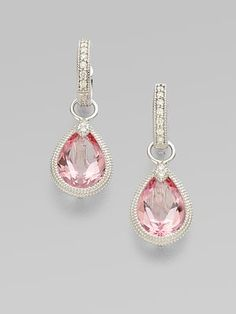 I like some of Jude Frances designs. Always liked this pink topaz drop earring charm design.