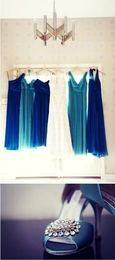 like the idea of all the dresses in the picture not just the brides