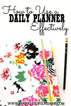 Do you have a daily planner but struggle with how to use it to plan out your days? Read these tips that will help you use your planner more effectively.