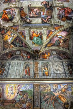 Sistine Chapel, Vatican City, Rome, Italy I was amazed. The chapel was full of people with their head tilled back. Oh The Places You'll Go, Places To Travel, Travel Destinations, Wonderful Places, Beautiful Places, Beautiful Boys, Visit Rome, Rome Florence, Le Vatican