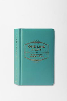 One line a day journal - I have used this book for the last year or so. It is such a great idea!