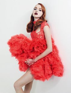 Lily Cole - Vogue Russia, Jan '12. photographed by Anthony Maule & styled by Ekaterina Mukhina