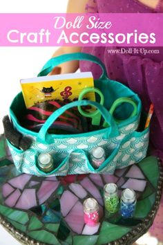 Ideas for Doll Size Craft Accessories - no practical use, but definitely cute