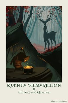 """dresdencodak: """" """"Silmarillion Chapter Of Aulë and Yavanna"""" Of all the Valar, Aulë and Yavanna are my favorites, the ultimate husband & wife combo. Aulë is functionally the god of craftsman, and is said to be most like the villainous Melkor in. Tolkien Books, Jrr Tolkien, O Silmarillion, Illustrations, Illustration Art, Elf Man, After Earth, Animals Of The World, The Elf"""
