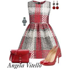 Untitled #1023 by angela-vitello on Polyvore featuring polyvore, fashion, style, Christian Louboutin, Movado, Exex Design and clothing
