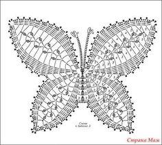 бабочка крючком схема и описание: 19 тыс изображений найдено в Яндекс.Картинках
