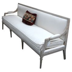 Late 18th c. Swedish Gustavian Settee | From a unique collection of antique and modern settees at https://www.1stdibs.com/furniture/seating/settees/
