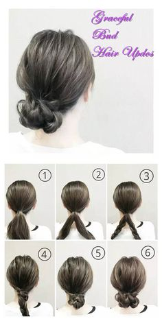 Graceful Bud Hair Updos shared by Fashion.Pandahall Graceful Bud Hair Updos shared by Fashion. Work Hairstyles, Braided Hairstyles, Waitress Hairstyles, Medium Hair Styles, Curly Hair Styles, Easy Updos For Long Hair, Hair Upstyles, Hair Arrange, Bridesmaid Hair