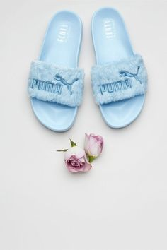 d8f1dc59f04c50 Rihannas New Furry Puma Slides in Pastel Colors Will Make You Very