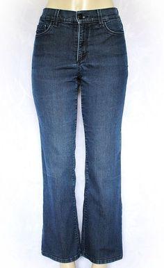 "NYDJ Petite Sarah Boot Leg Premium Lightweight 6P Jeans Blue 28"" Pants Denim #NotYourDaughtersJeans #BootCut"