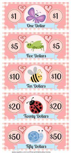Play Money Template Insert teaching resources Pinterest