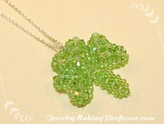 Are you ready to make some bead jewelry for Saint Patrick's Day? If you have taken a basic bead weaving course, then you can make this shamrock pattern.