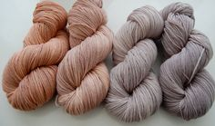 Gray/Rose Yarn-Neutrals- Mini Skeins Custom Dye Order    Pillow Pattern