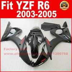 NEW HOT ABS motorcycle fairings kit for YAMAHA R6 2003 2004 2005 YZF R6 03 04 05  full black fairing kits bodywork part #Affiliate
