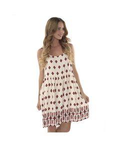 Sleeveless Border Dress.