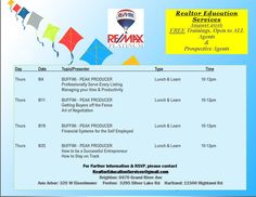 August 2016 Lunch and Learn in the RE/MAX Platinum Brighton Office