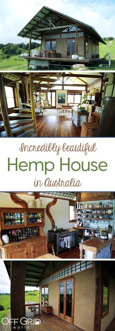 This Little House is Absolutely Incredible - and it's Made From Hemp! This little house in Australia is incredible - and it's made from hemp! Building A Tiny House, Green Building, Tiny Cabins, Earth Homes, Natural Building, Tiny House Living, Earthship, Tiny House On Wheels, Little Houses