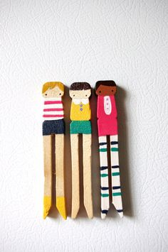 Clothespin dolls.  Just the right amount of whimsy.
