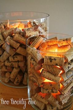 Guest Project: Hurricane Vase Filler with Wine Corks ~ Madigan Made