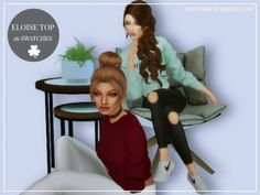 ELOISE TOP at MXFSims • Sims 4 Updates