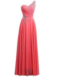 Magnifique robe de soirée, cocktail orientale pour demoiselle d'honneur. Cette robe de soirée composée d'une manche asymétrique en mousseline et d'une forme A-line révélera  la beauté de votre silhouette.