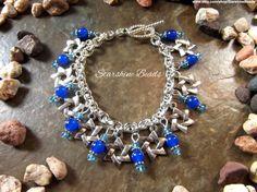 Blue Jade Star of David Bracelet  Star of David by StarshineBeads