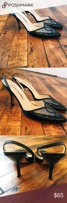 Manolo Blahnik Slingbacks These are beautiful, feminine, understated shoes. They've lived a great life (and have some wear and tear) but they're ready for an encore... in your wardrobe. Manolo Blahnik Shoes Heels