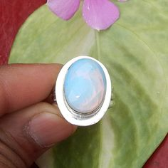 Faceted Blue Fire Opal Gemstone Ring  Bezel by NativeFineJewelry, $12.50
