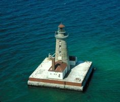 Spectacle Reef #Lightouse, located eleven miles off the eastern end of Bois Blanc…    http://dennisharper.lnf.com/