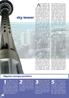 Ejemplo maquetación revista de viajes.