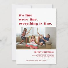 Merry Christmas | Everything is Fine Funny Holiday - tap/click to personalize and buy #ad #everything #is #fine #christmas