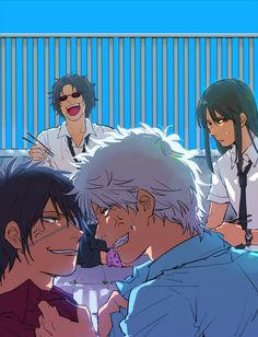 Of course Sakamoto is laughing like an idiot in the back.