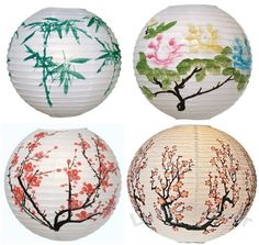 these japenese lanterns would be super cool for the deck.  I wonder if I could ask Becky to paint some?