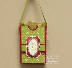 Handmade Christmas gift tags | Stampin' Up! Project Ideas - Andrea Walford, Sunny Stampin' Blog ...