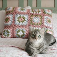 Perfect for any cozy bedroom, these granny square pillow shams will beckon you to bed!