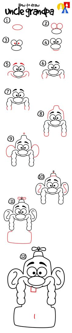 How to draw Uncle Grandpa!