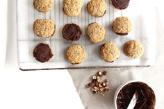 cookie sandwiches, hazelnut cookies with chocolate creme
