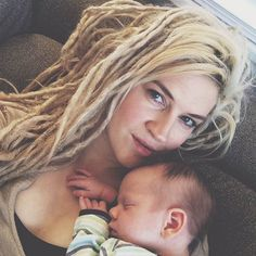 Beautiful mom with beut dreads
