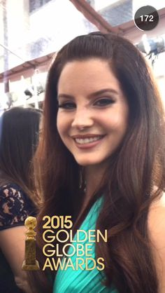 Unfortunately, our Lana didn't win a Golden Globe Award but she's still a winner in our hearts (and she looked beautiful). #LDR