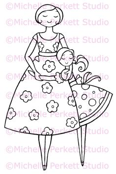 Digital Stamp Image Thanks Mum Mom Mother's Day Daughter Scrapbooking Cardmaking - Etsy.