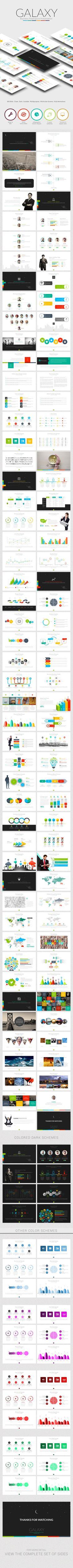 Galaxy Business Powerpoint Template #design #slides Download: http://graphicriver.net/item/galaxy-business-powerpoint/13460560?ref=ksioks