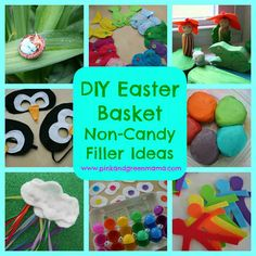 Pink and Green Mama: Easter Basket Non-Candy Filler Ideas To Make For Your Kids