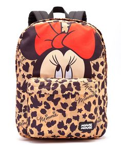 Leopard Minnie Mouse Backpack