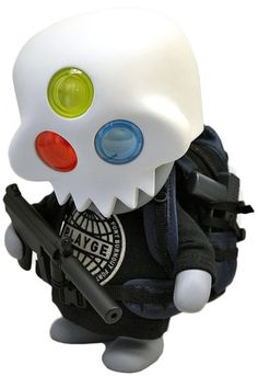 'Tongueless Gohst - RGB' by Ferg. Can be acquired through a lottery system here: http://www.rotofugi.com/squadtassembly/builtbyferg.asp or build your own: http://www.rotofugi.com/toyscart/pc/viewPrd.asp?idproduct=12403