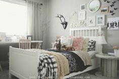 what a FUN girls room!! LOVE this!